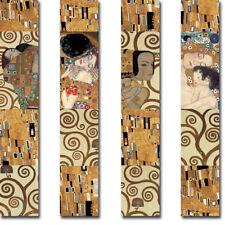 Klimt Panel I thru IV by Gustav Klimt 4-pc Gallery Wrapped Canvas Giclee Art Set