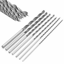 "7Pcs Extra Long Wood Drill Bit Set 12"" 300mm Woodworking Tool 4 5 6 7 8 10 12mm"