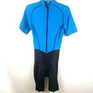 Performance Cycling Suit Mens Size M/L  Blue/Black Bicyclist Racing