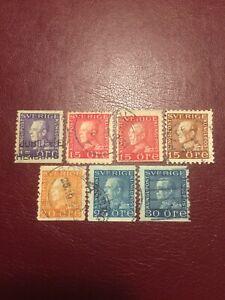 Sweden stamps 1921-25 USED King Gustaf V