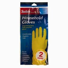 Latex Rubber Household Gloves Long Lasting Kitchen Cleaning Washing M New