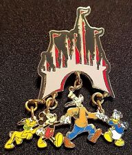 RETIRED 1999 DISNEY WDW CINDERELLA CASTLE DANGLE SERIES GRAY FAB 4 PIN LE 2000