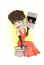 Joan Collins-rare opere d'arte originali di Annette Hudson 1996 DAILY EXPRESS C#69