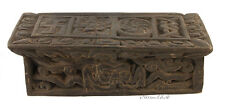 ANCIEN SUPORT LIVRE PRIERE TIBETAIN-TABLE TIBETAINE-TIBET NEPAL-5758