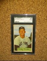 1954 Bowman Baseball #65 Mickey Mantle (New York Yankees) SGC 1