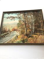 "Charles Sawyer hand colored photo  "" October Magic"" Fall Scene. Signed Framed"