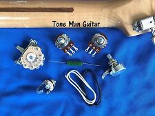 Upgrade Fender Strat Guitar Wiring Kit .022uf PIO Tone Cap Jack Cloth Wiring