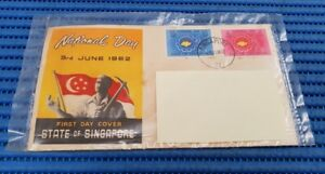1962 State of Singapore First Day Cover National Day 3rd June 1962 Stamp Issue