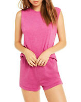 Wildfox Womens Muscle WTJ180000 Top Relaxed PASN Pink Size S