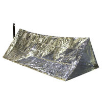 OUTDOOR EMERGENCY TENT SHELTER Survival Camping Sleeping Bag Folding Reflective