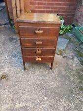 Vintage Mid Century Bedside Cabinet Table Cupboard Storage Unit Filing Cabinet