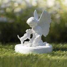 Trixie Memorial Stone for grave Dog with Angel indoor, outdoor Plaque for Garden