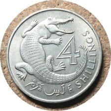 elf The Gambia 4 Shillings 1966  Crocodile