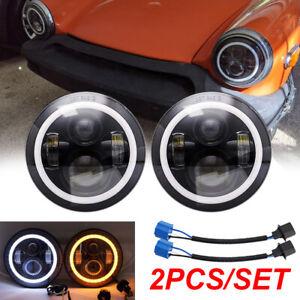 Pair 7inch High Low Beam Headlight Bulbs Fit For MG Midget 1969-1979 Chrysler