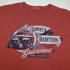 REDNECK TRADITION Comfort Colors TEE T SHIRT Sz Mens M Red / Garment Dyed