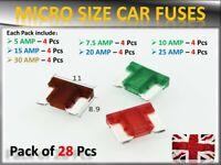 28 X ASSORTED MICRO MINI BLADE FUSES CAR AUTO TRUCK SUV LOW PROFILE APS SUBARU
