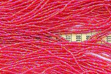 Trans Ruby AB  11/0 Czech Glass Seed Beads/ Hank