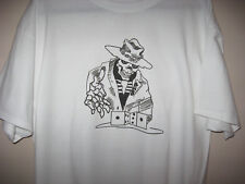 """Dice Scull Boot Hill Baits White Haynes Tag-less T-Shirt Short Sleeve """"Large"""""""
