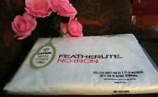 Vintage Cannon Royal Family Full Flat Sheet No-Iron Featherlite 50/50 New White