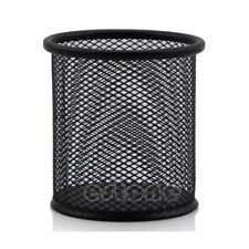 Office Handy Desk Cylinder Iron Mesh Pen Pot Case Container Holder Organiser