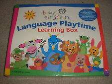New Baby Einstein Language Playtime Learning Box Books Cards CD Frame Magnet