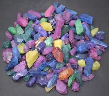 Large Natural Dyed Quartz Crystal Points 1/2 Lb Bulk Lot (Reiki Mineral Wand)