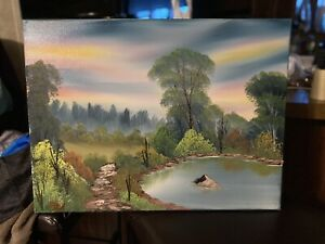 11\u201dx14\u201d Bob Ross inspired oil painting