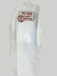 Vintage Men's Aerospace Palapa 1 Spacecraft White Polyester Lab Work Coat Sz XL