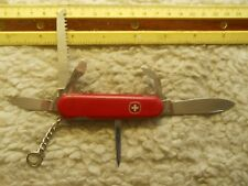 Wenger Backpacker II Swiss Army knife in red - has pick and tweezers