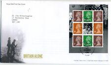 2010 Britain Alone booklet pane FDC