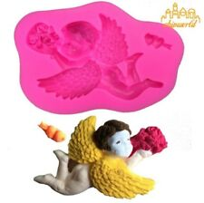 3D Silicone Mould Angel Cupid Cake Mold Fondant Bakeware Baking Decorating Tool