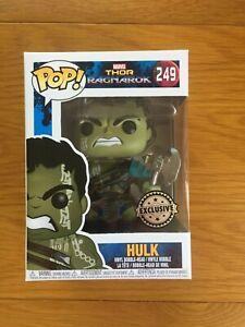 Hulk - Thor Ragnarok Exclusive Funko Pop #249 *New with FREE Protector*