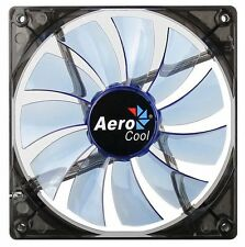 AeroCool Lightning LED Fan - 140x140x25mm, 1200+10rpm, 48CFM, 22dBA - Blue LED