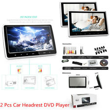 2 x Car Tablet-Style Headrest DVD Player with USB/SD/HDMI Port  & Remote Control