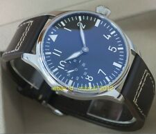 PARNIS 44mm pilot hand winding sea gull movement Men's watch without logo