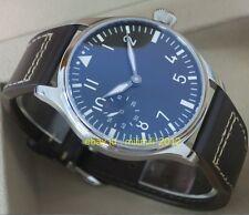 PARNIS 44mm pilot hand winding sea gull movement Men's watch without logo