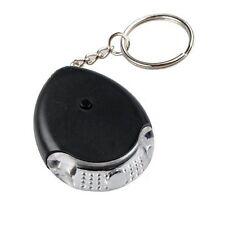 LED Luz Key Finder Llavero Locater Anti-Perdidos Control Sonido Silbar Beep
