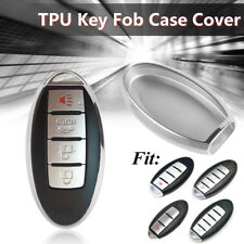 Silver Remote Key Fob Shell Cover Fit For Nissan Infiniti 2 3 4 5 Button Keyless