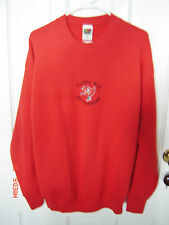 NFL TAMPA BAY BUCS LgSl Red w Black/White Trim Cotton Blnd Pullover Sweatshirt L