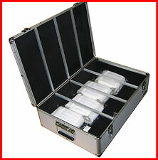 1000 CD DVD Silver Aluminum Hard Case For Media Storage Holder w/ Hanger Sl