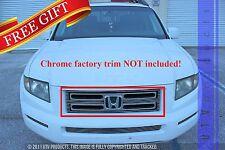 GTG 2005 - 2008 Honda Ridgeline 1PC Polished Upper Overlay Billet Grille Grill