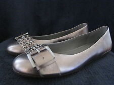 ECCO Womens Owando Gold Leather Slip On Flats Shoes US 8 - 8.5 M EUR 39 NWOB
