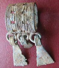 Authentic Ancient Lake Ladoga VIKING Artifact > RARE Bronze Pendant D35