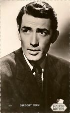 CARTE POSTALE PHOTO CELEBRITE ACTEUR GREGORY PECK