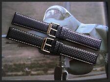 22mm Black XL Carbon Fiber nylon Mil-sport watchband strap IW SUISSE 18-19-20-24