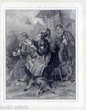 Trachten-Bayern-Jäger-Jagd-Gemse-Gemsjagd - Lithographie 1840