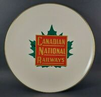 Canadian National Railways CNR Plate 22k Gold Trim Decorated in Canada 9.25""