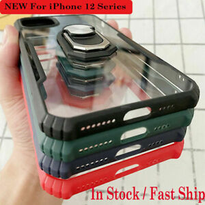 Shockproof Armor Soft Case Ring Holder For iPhone 12/ iPhone 12 Mini/Pro/ ProMax