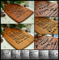 Personalised Christmas Gift Engraved Present Family Cutting Board Custom Made