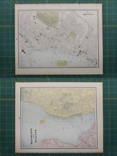 Montreal Halifax Dartmouth Vintage Original 1895 Werner Company World Atlas Map